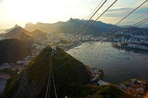 Rio de Janeiro bei Sonnenuntergang foto