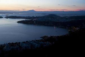 Rio de Janeiro vom Stadtpark Niteroi aus gesehen foto