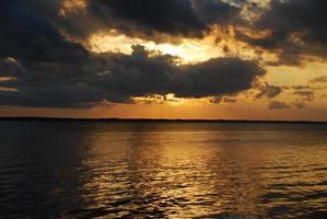 orange Sonnenuntergang foto