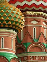Kuppeln des Heiligen Basilikums, Moskau, Russland foto