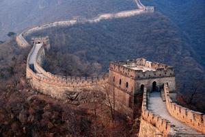 Sonnenuntergang der großen Mauer foto