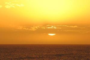 Sonnenuntergang und Wolken