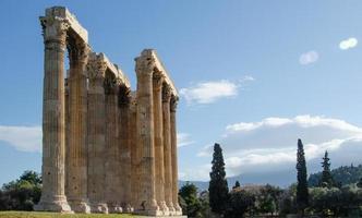 Tempel des olympischen Zeus foto