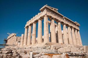 Ruinen der alten Akropolis in Athen foto