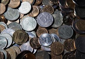 Handvoll russische Rubel foto