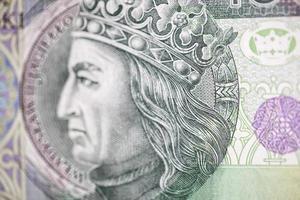 König von Polen auf der Hundert-Rechnung foto