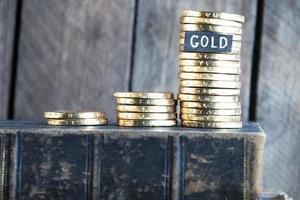 Grafik aus Münzen foto