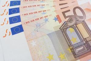 fünfzig Euro-Scheine foto