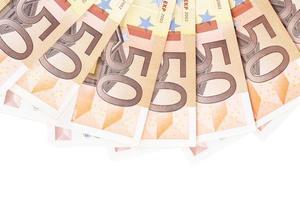 Nahaufnahme von fünfzig Euro foto