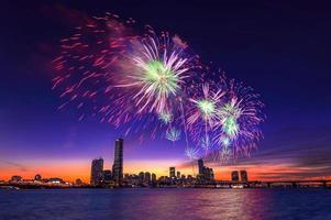 Seoul internationales Feuerwerksfestival in Korea. foto