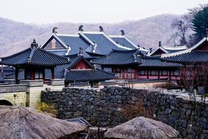 Schloss im koreanischen Stil foto