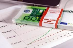 Grafiken, Diagramme, Business-Tabelle. foto