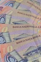 verschiedene rumänische Lei Banknoten foto