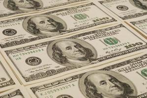 Dollar Banknote Geld Hintergrund foto