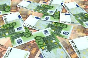 Geld Hintergrund von vielen Euro foto