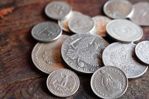Münzen Hintergrund foto