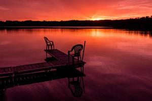 Sonnenuntergang im Norden von Minnesota foto
