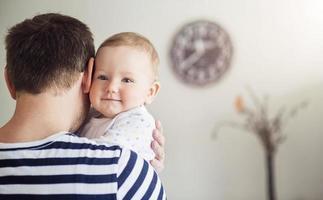 Papa und Tochter foto