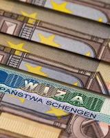 Schengen-Visum foto