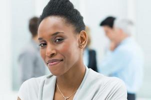 junge afrikanische Geschäftsfrau foto