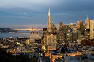San Francisco in der Abenddämmerung xl foto