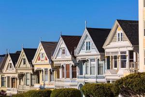 San Francisco Victorian Häuser in Alamo Square Kalifornien foto