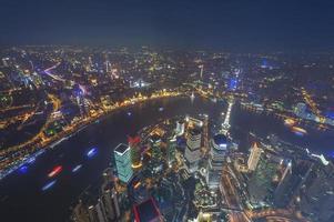 Luftaufnahme von Shanghai Lujiazui Finanzen