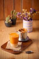 thailändischer Tee im vietnamesischen Stil foto