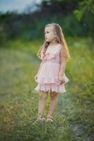 Mädchen auf der Natur foto