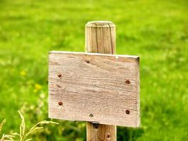 Holzplatte Zeichen