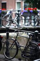 Gruppe geparkter Fahrräder foto