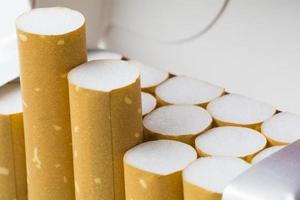 Zigaretten aus der Nähe schließen foto