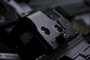 Waffe aus der Nähe foto