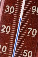 Thermometer - Nahaufnahme foto