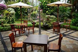 Sitzplätze im Garten foto