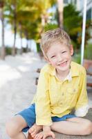Kind im Urlaub foto
