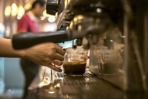 Kaffeemaschine, Nahaufnahme