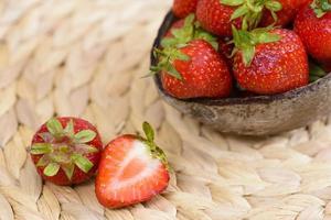 Nahaufnahme von Erdbeere foto