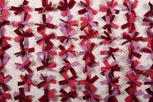 gestrickter Teppich Nahaufnahme