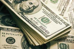 Dollar stapeln Nahaufnahme