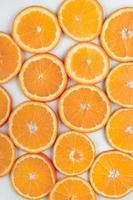Hintergrund der leuchtend orange Scheiben foto