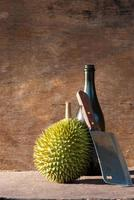 Nahaufnahme von Durian foto