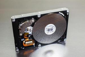 Nahaufnahme Festplatte (HDD)