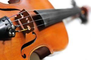 Nahaufnahme der Geige foto