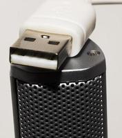 Schließen Sie den USB-Lautsprecher foto