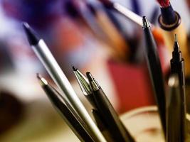Schreibwerkzeuge Nahaufnahme foto