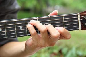 Gitarrenakkord spielen f #