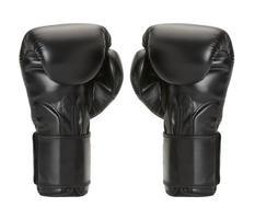 Par Boxhandschuhe auf weißem Hintergrund. foto