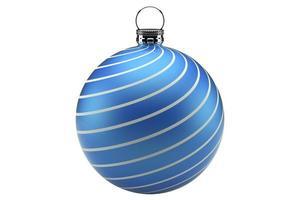 Weihnachtsball blau foto