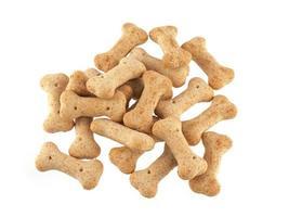 Hundekuchen in Form von Knochen.